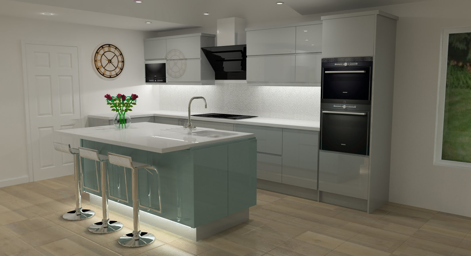 Latest kitchen design for harlow wood mansfield client for Kitchen world