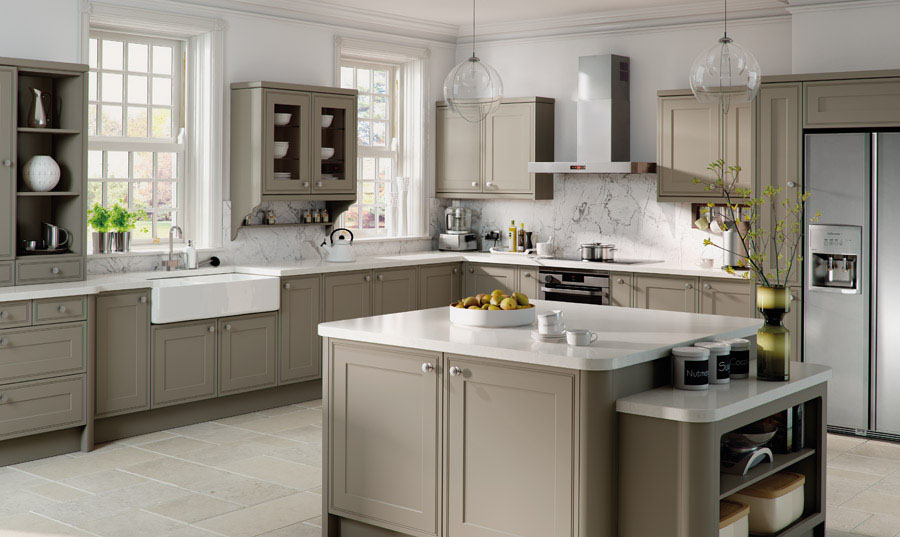 Contemporary Kitchens Kitchen World - Colours to match grey kitchen units